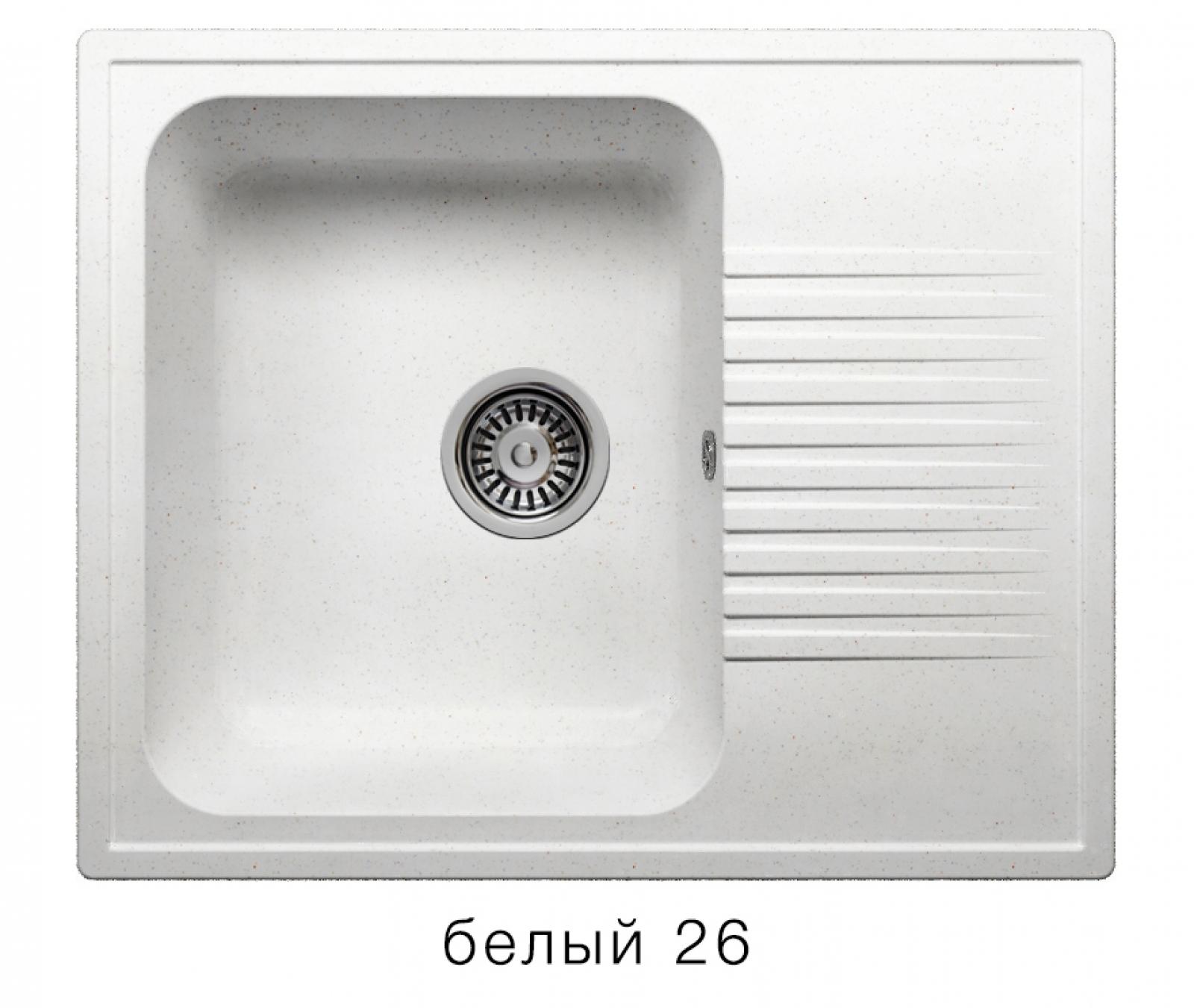 Мойка Polygran-F-07-026, цвет - Белый