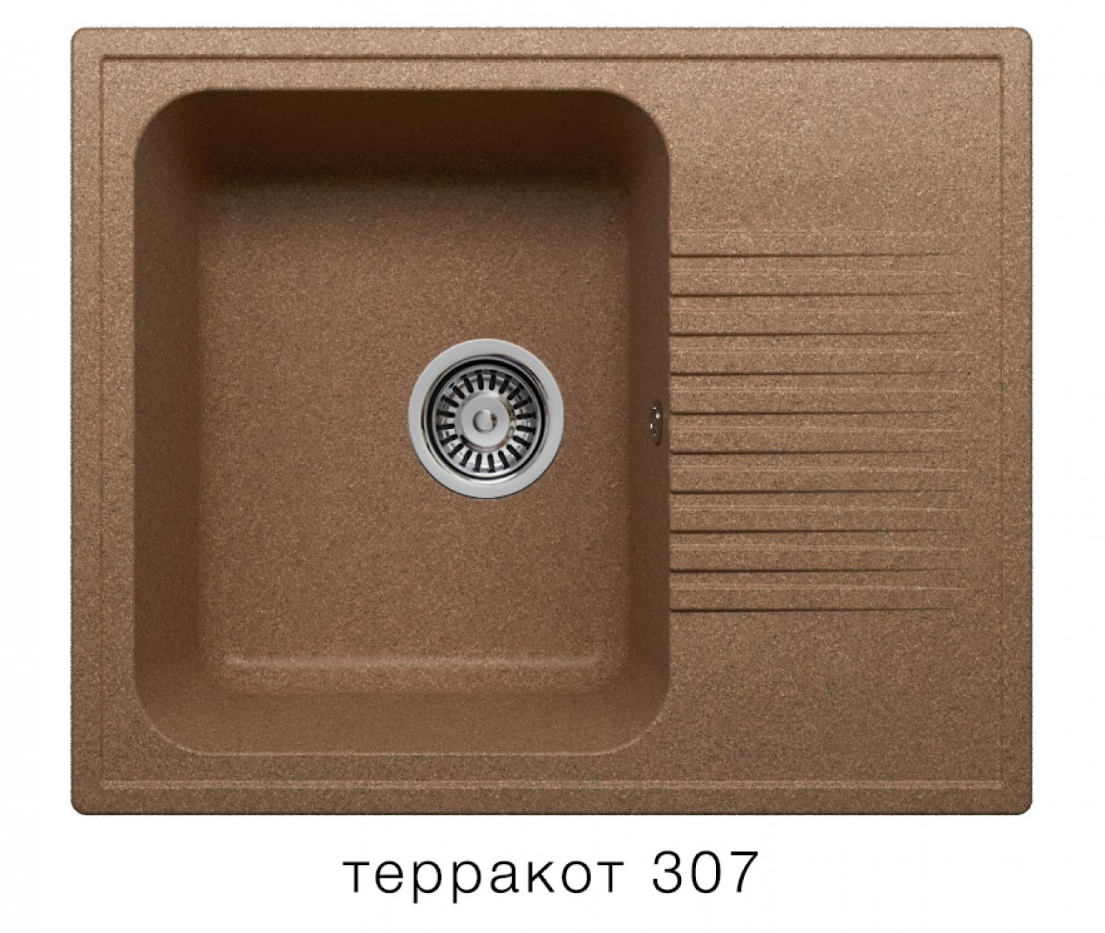 Мойка Polygran-F-07-307, цвет - Терракотовый