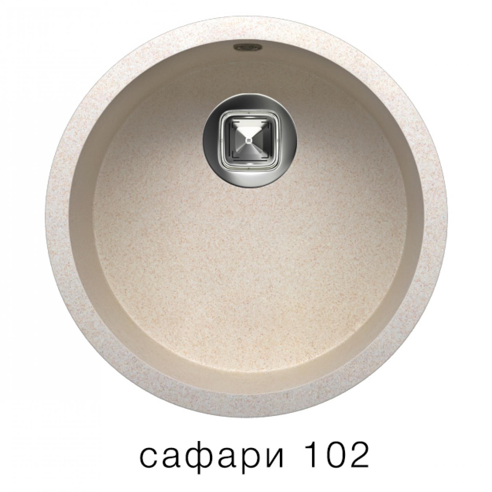 Мойка Tolero-R-104-102, цвет сафари