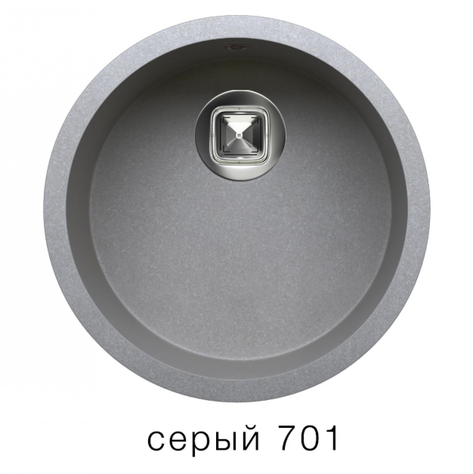 Мойка Tolero-R-104-701, цвет серый