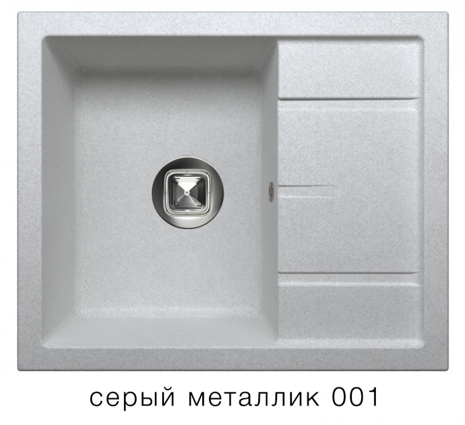 Мойка Tolero-R-107-001, цвет - Серый металл
