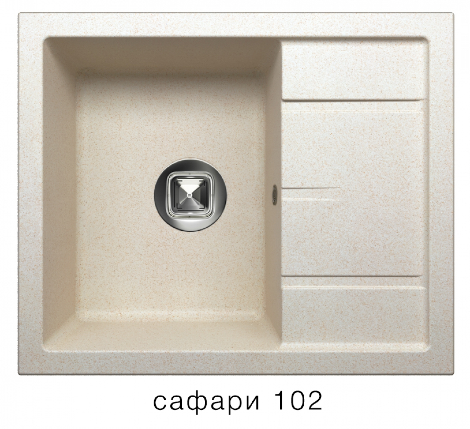Мойка Tolero-R-107-102, цвет - Сафари