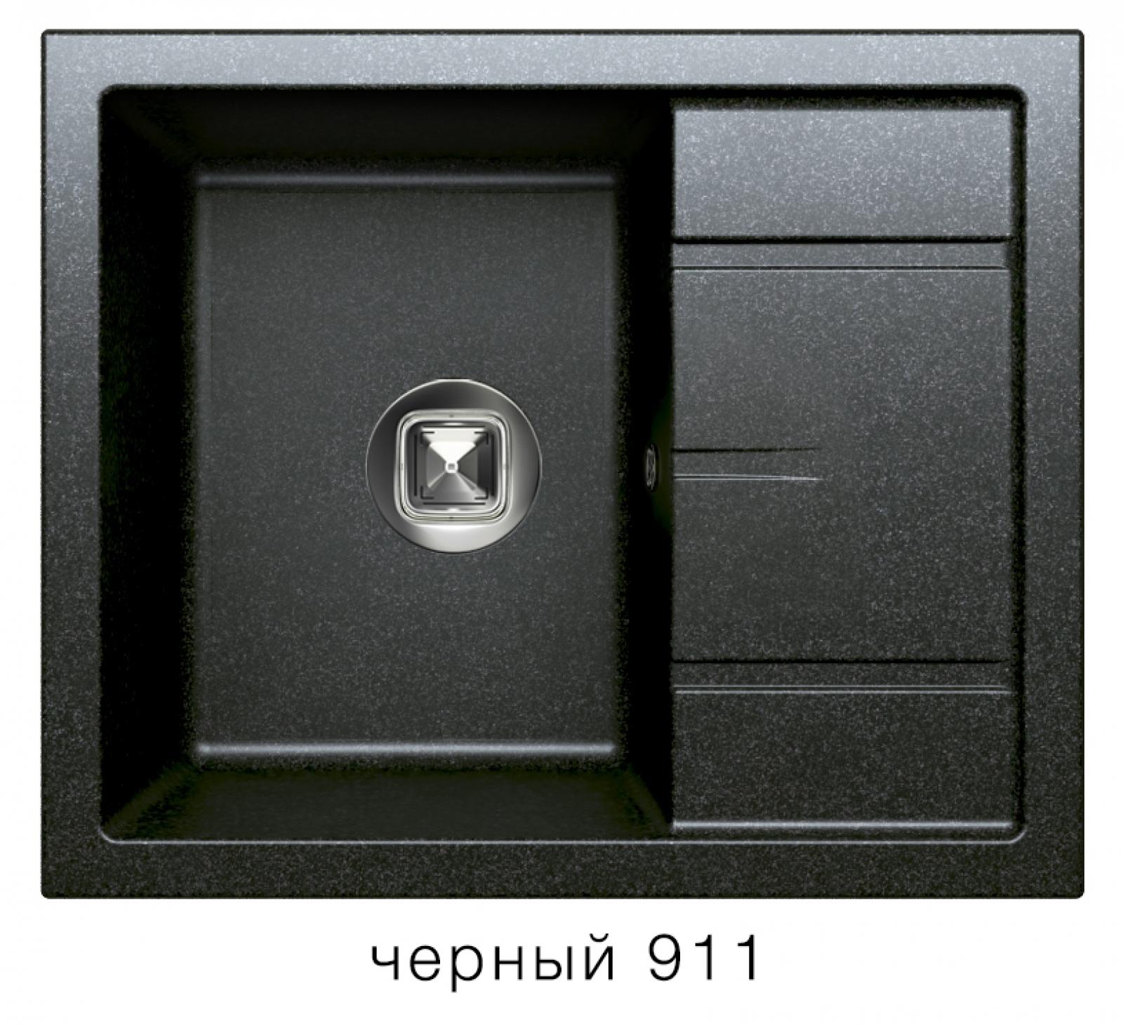 Мойка Tolero-R-107-911, цвет - Черный