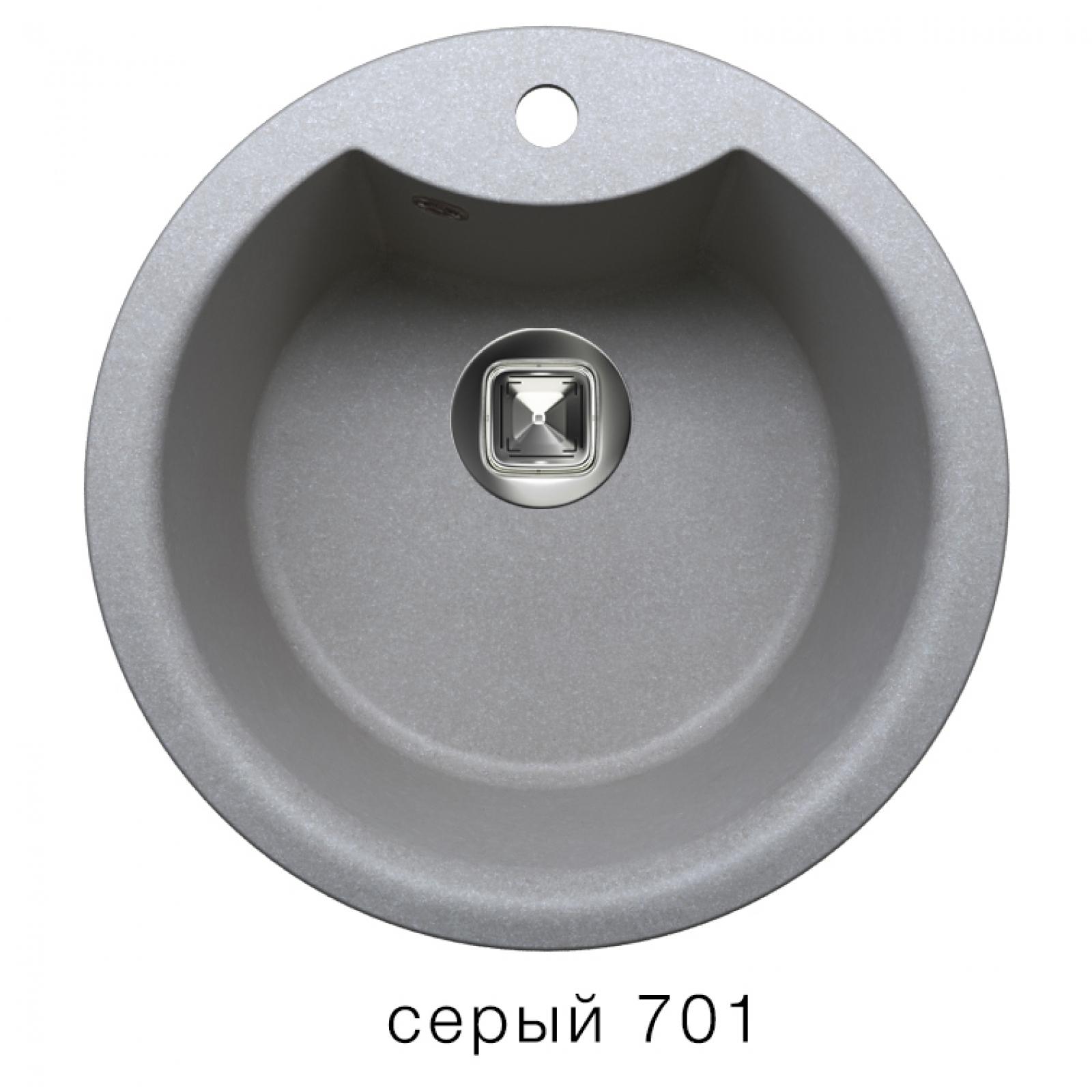 Мойка Tolero-R-108e-701, цвет - Серый