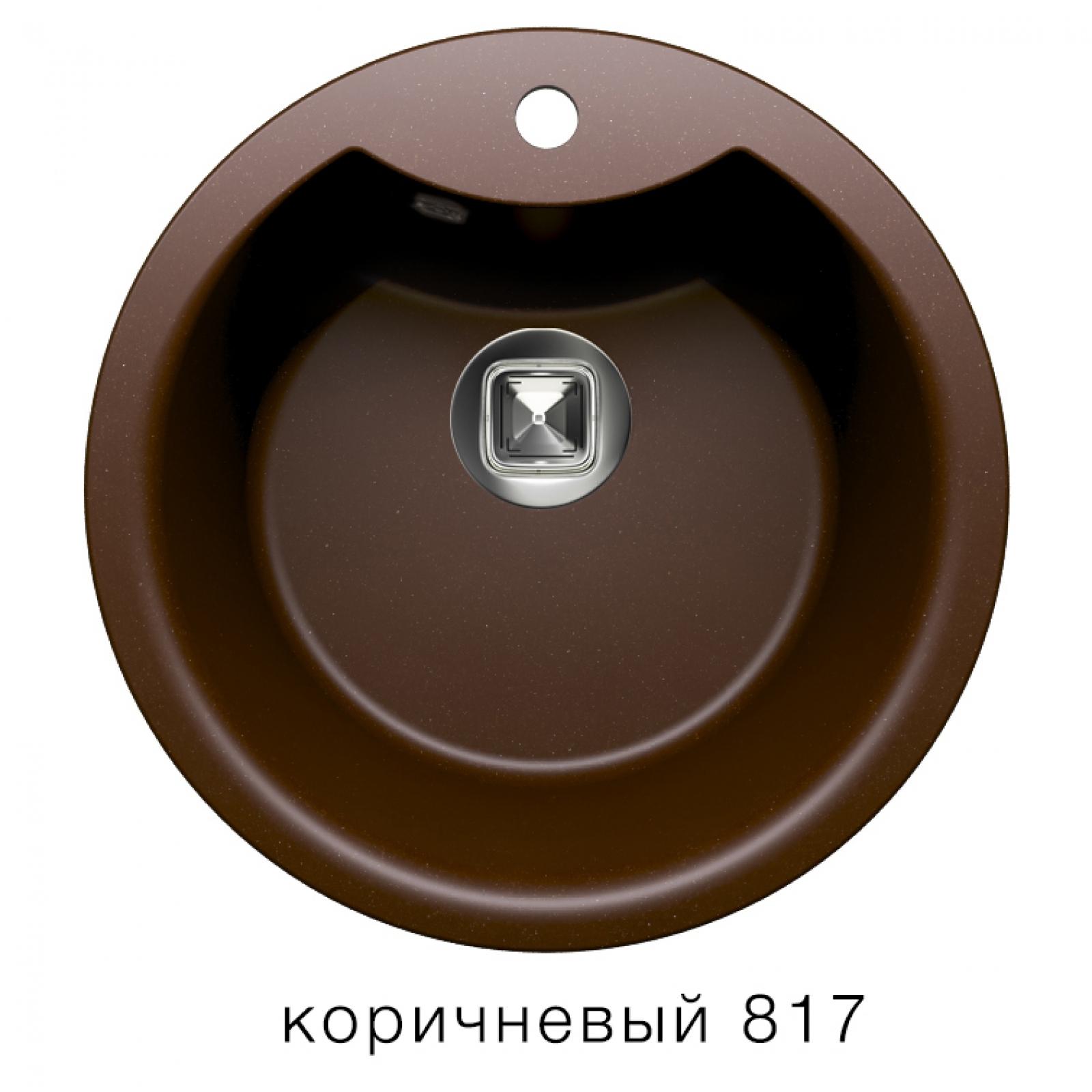 Мойка Tolero-R-108e-817, цвет - Коричневый