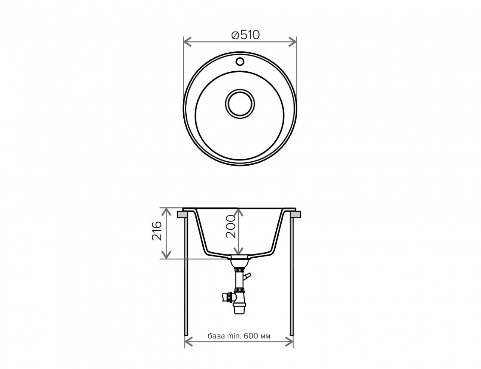 Мойка Tolero-R-108-701, цвет - Серый