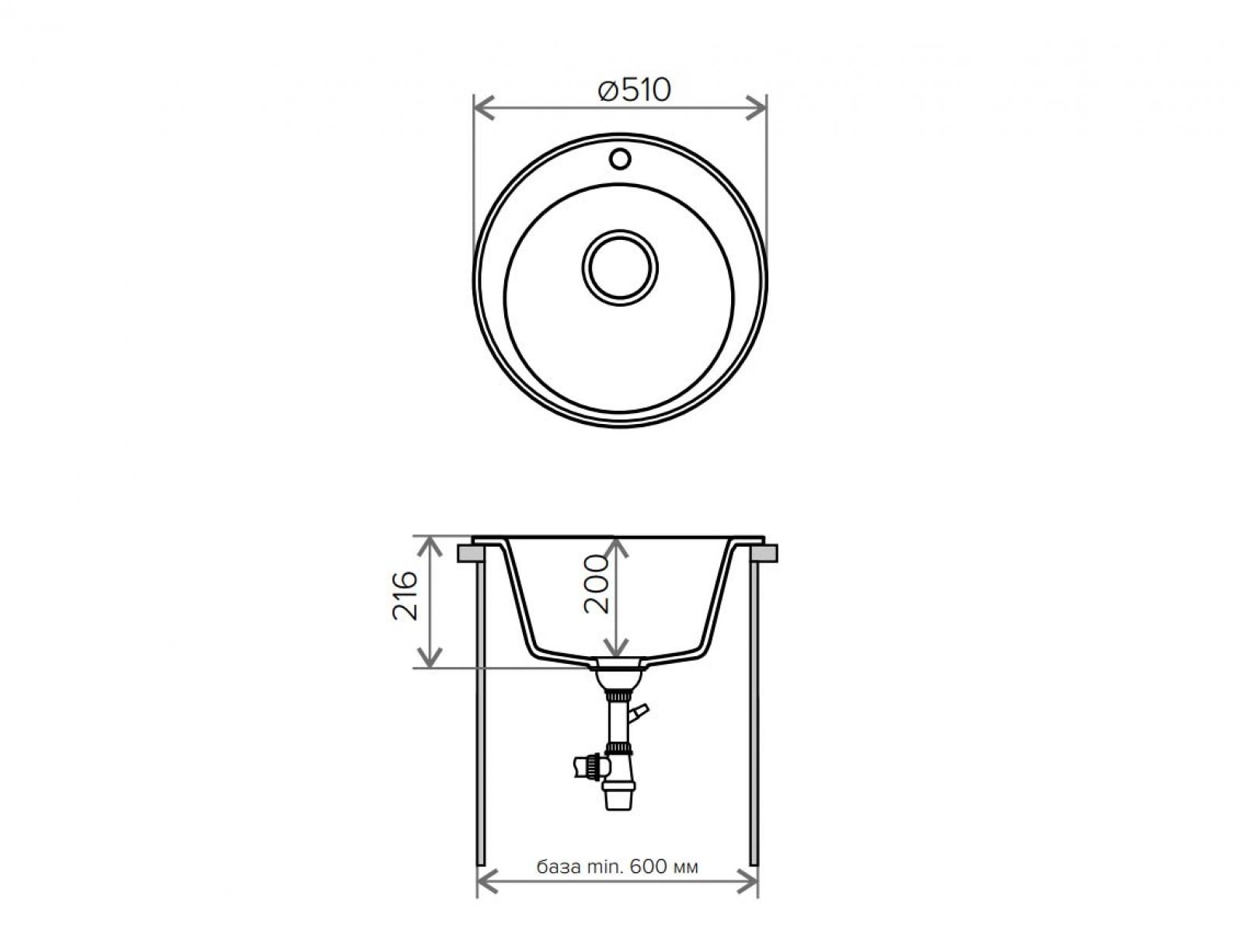 Мойка Tolero-R-108-823, цвет - Темно-бежевый
