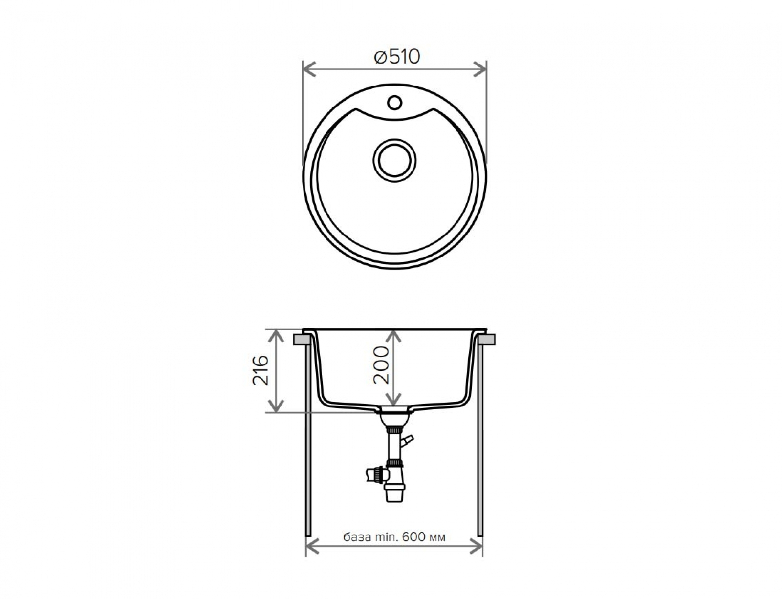 Мойка Tolero-R-108e-923, цвет - Белый