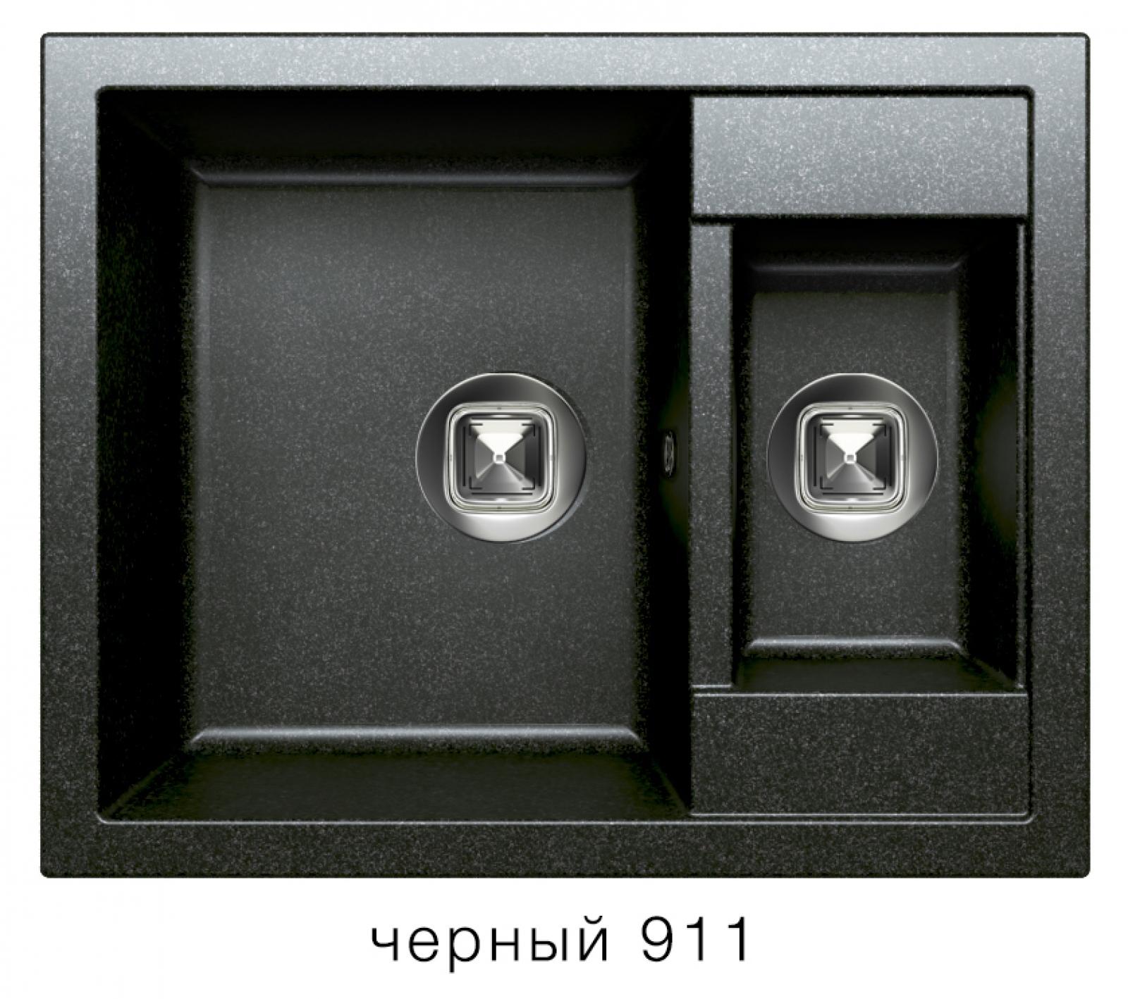 Мойка Tolero-R-109-911, цвет - Черный