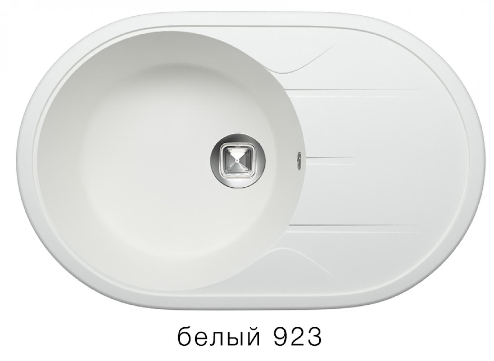 Мойка Tolero-R-116-923, цвет белый