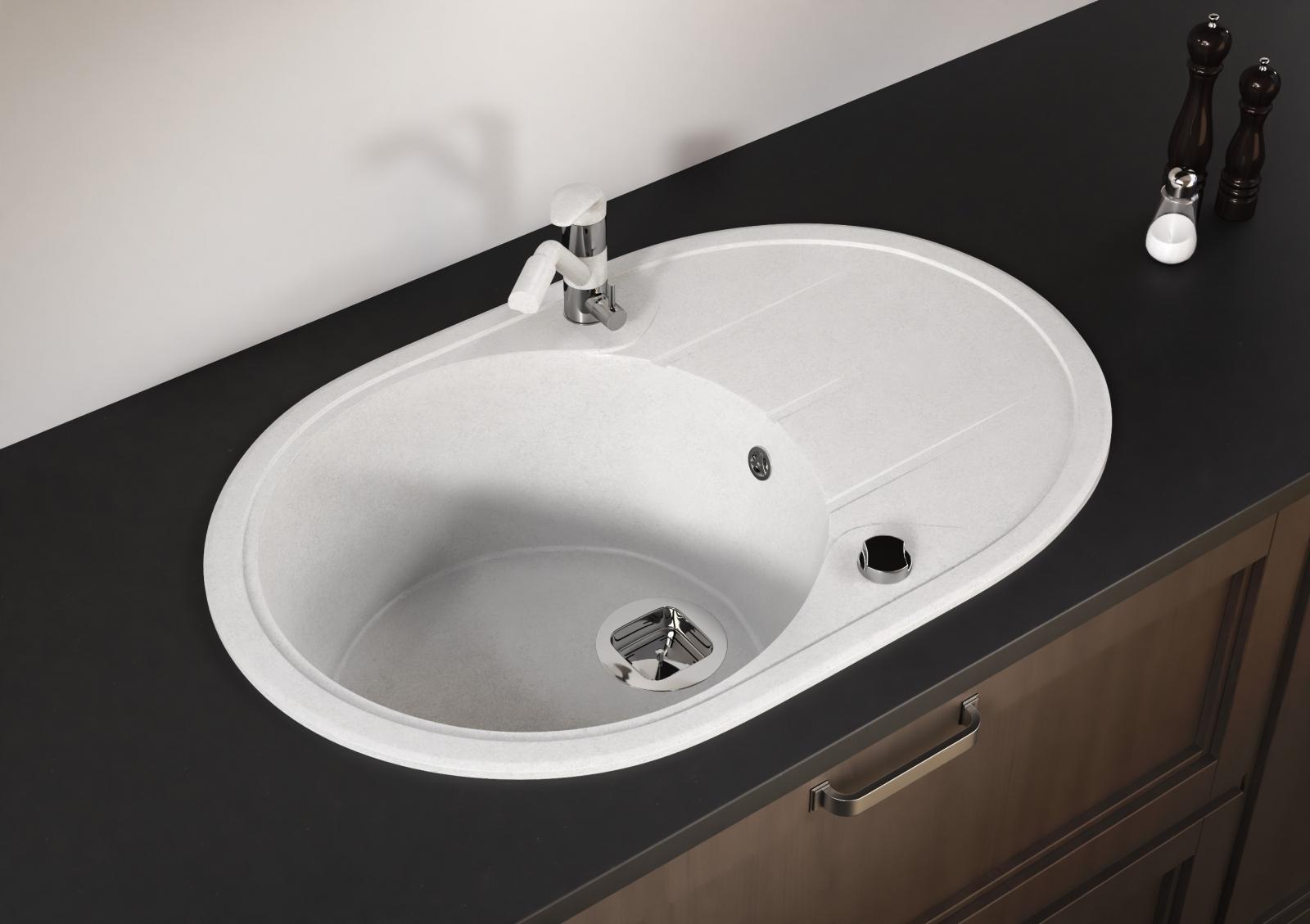Мойка Tolero-R-116-001, цвет – серый металлик