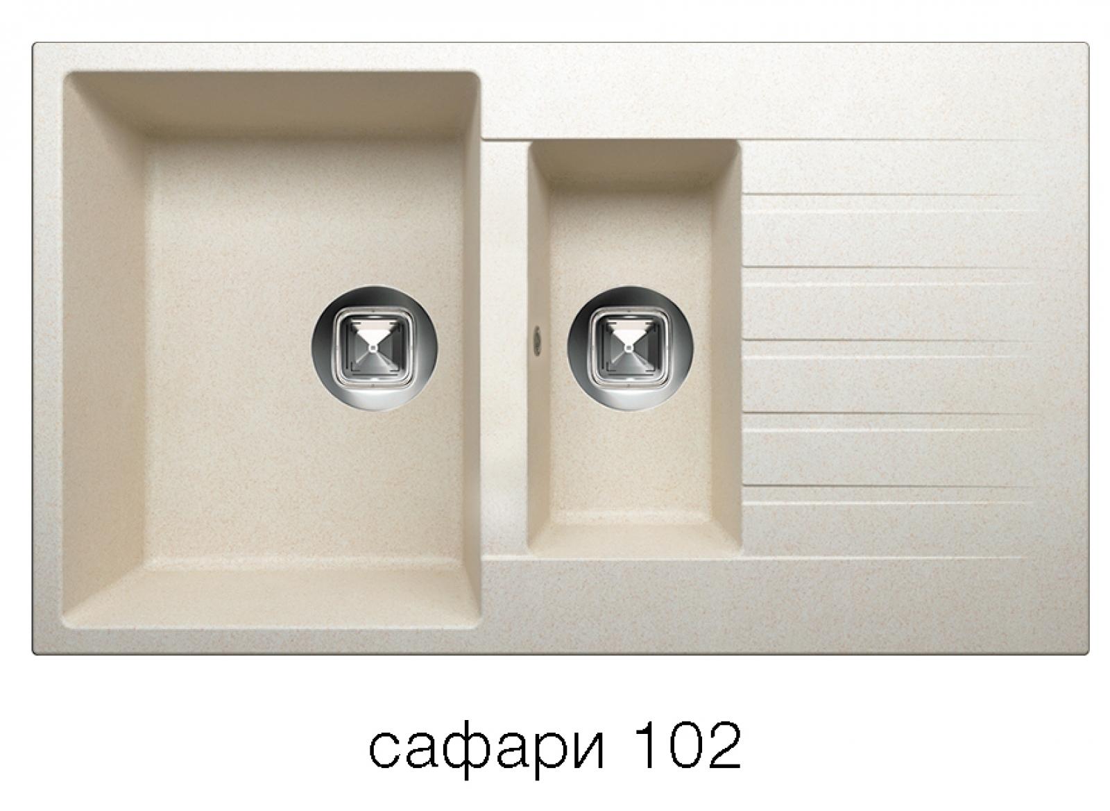 Мойка Tolero-R-118-102, цвет сафари