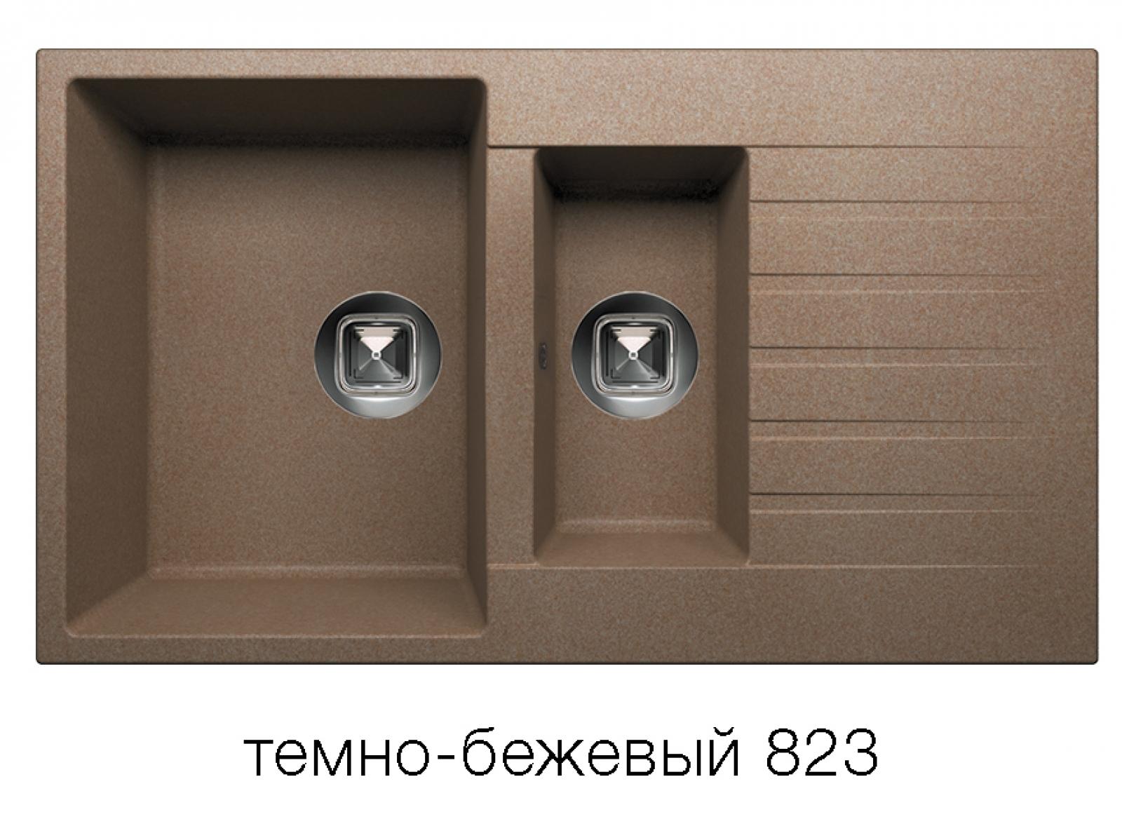 Мойка Tolero-R-118-823, цвет – темно-бежевый
