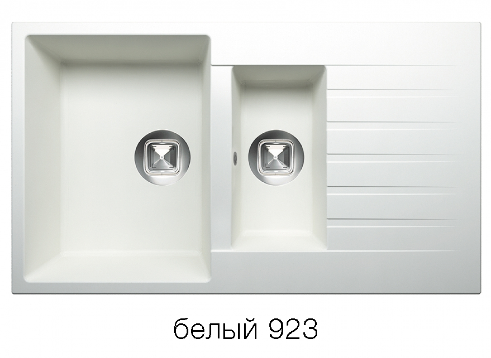 Мойка Tolero-R-118-923, цвет белый