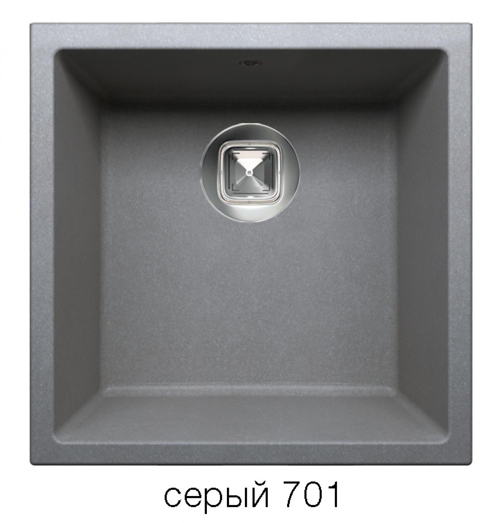 Мойка Tolero-R-128-701, цвет – серый