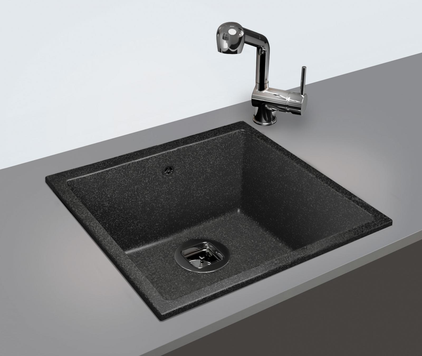 Мойка Tolero-R-128-001, цвет – серый металлик