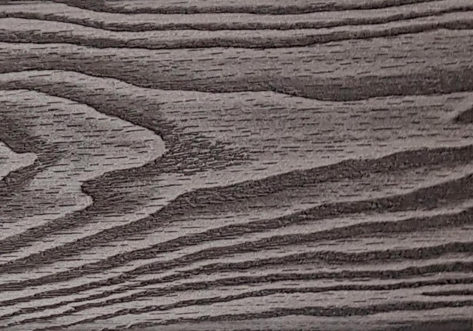 Заборная доска 3D Черное дерево