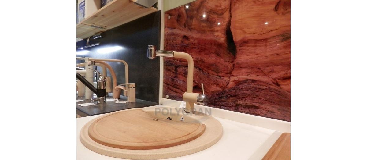 Смеситель кухонный в цвет мойки, с душевой лейкой