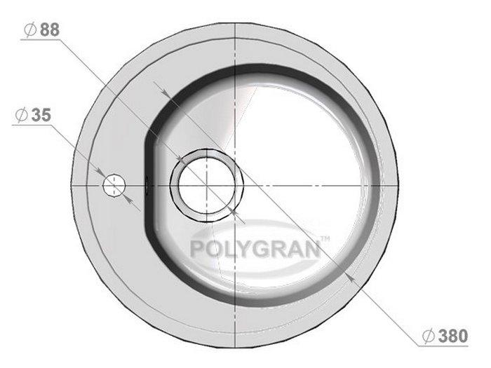 Мойка Polygran-F-08-331, цвет - Хлопок