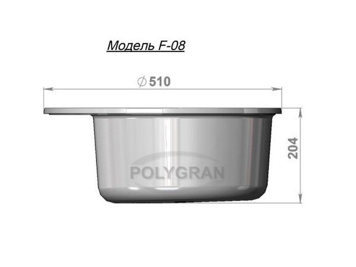 Мойка Polygran-F-08-307, цвет - Терракотовый