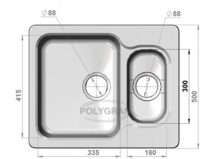 Мойка Polygran-F-09-027, цвет - Бежевый
