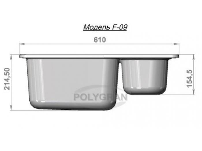Мойка Polygran-F-09-331, цвет - Хлопок