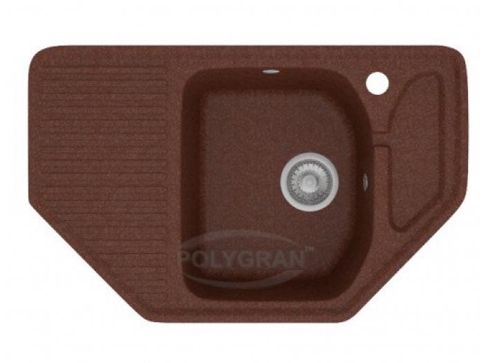 Мойка Polygran-F-10-021, цвет - Коричневый