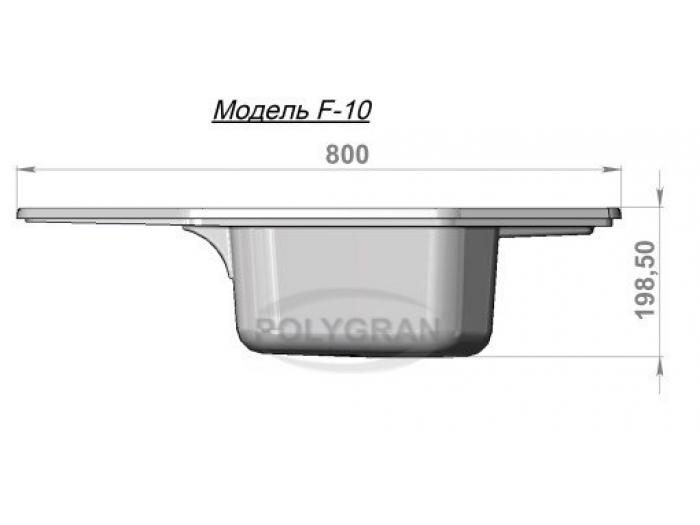Мойка Polygran-F-10-016, цвет - Черный