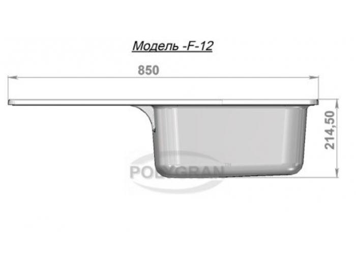 Мойка Polygran-F-12-016, цвет - Черный