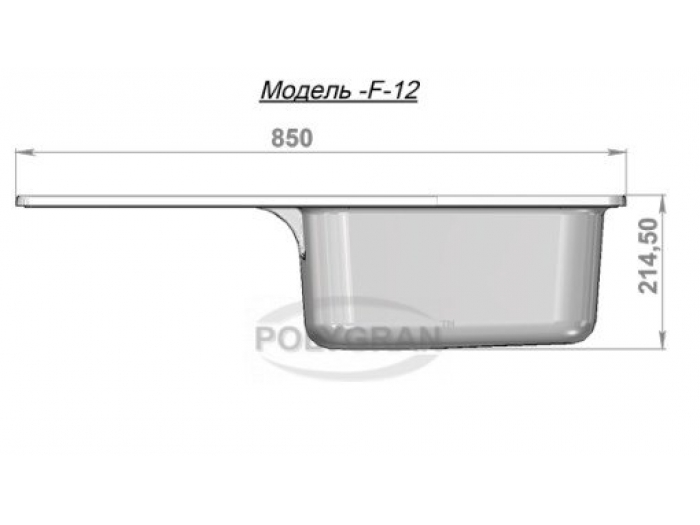 Мойка Polygran-F-12-026, цвет - Белый