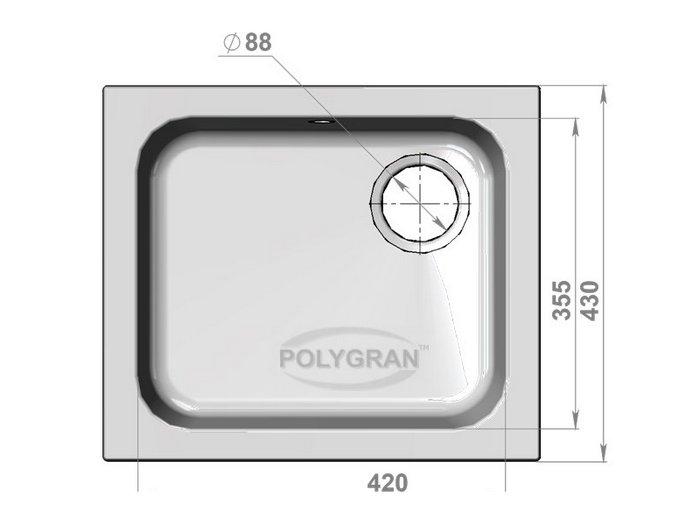 Мойка Polygran-F-17-027, цвет - Бежевый
