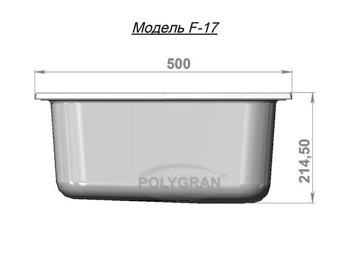 Мойка Polygran-F-17-331, цвет - Хлопок
