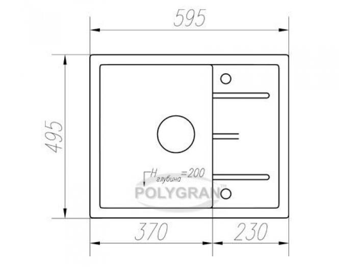 Мойка Tolero-R-107-817, цвет - Коричневый
