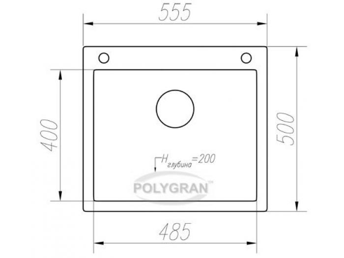 Мойка Tolero-R-111-817, цвет - Коричневый