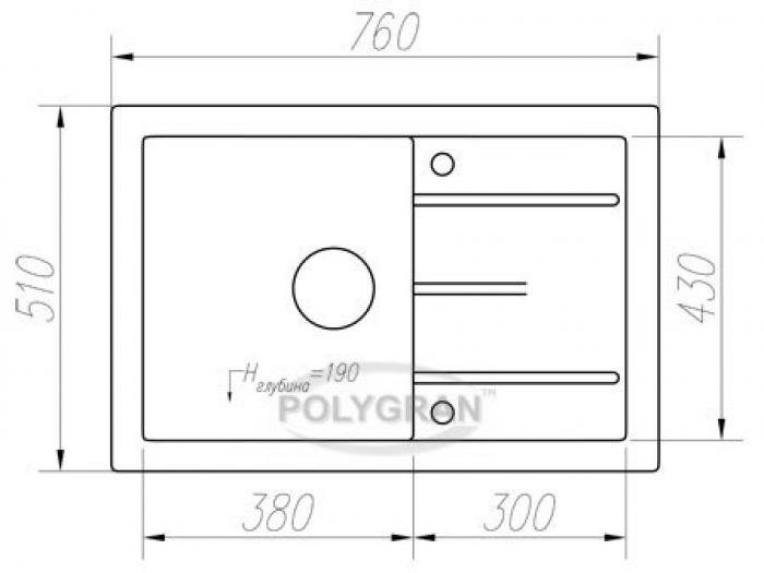 Мойка Tolero-R-112-701, цвет - Серый
