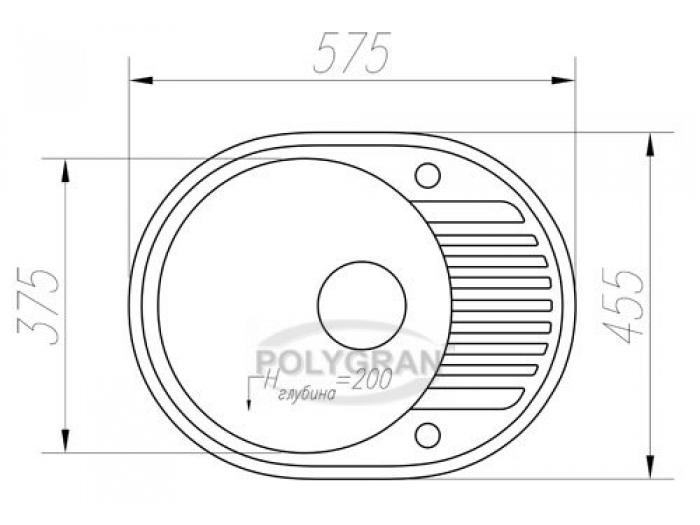 Мойка Tolero-R-122-001, цвет - Серый металл