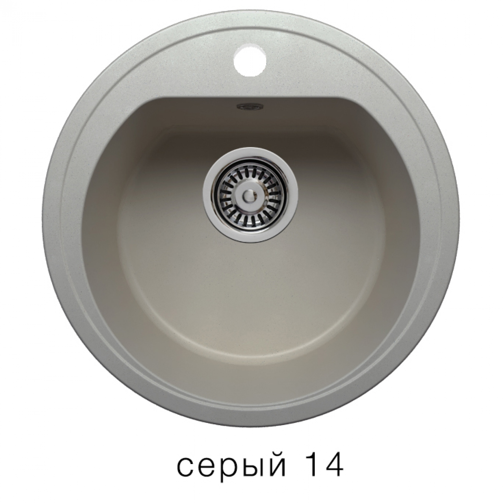 Мойка Polygran-F-05-014, цвет - Серый