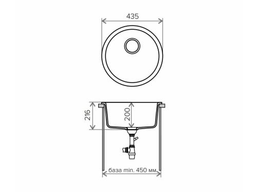 Мойка Tolero-R-104-001, цвет –серый металлик
