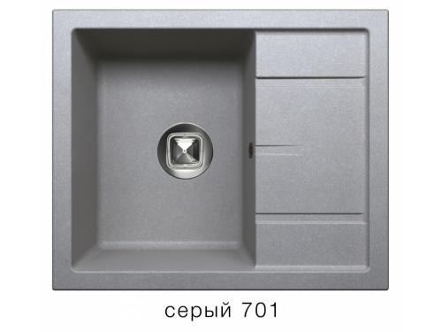 Мойка Tolero-R-107-701, цвет - Серый