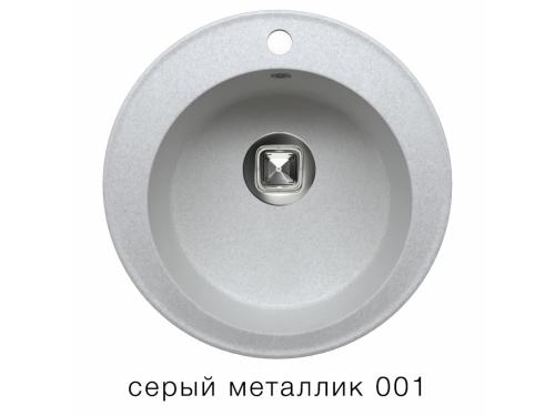 Мойка Tolero-R-108-001, цвет - Серый металл