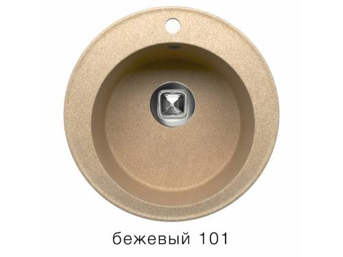 Мойка Tolero-R-108-101, цвет - Бежевый