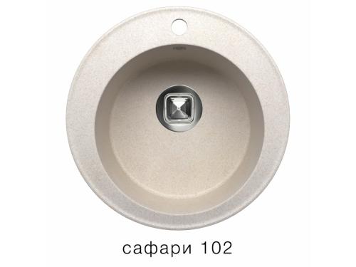 Мойка Tolero-R-108-102, цвет - Сафари