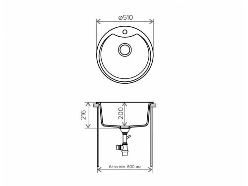Мойка Tolero-R-108e-001, цвет - Серый металл