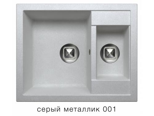 Мойка Tolero-R-109-001, цвет - Серый металл