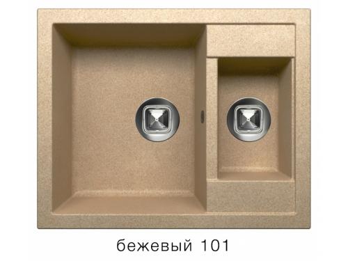 Мойка Tolero-R-109-101, цвет - Бежевый