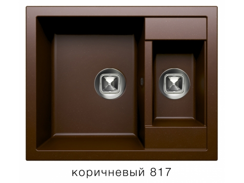 Мойка Tolero-R-109-817, цвет - Коричневый
