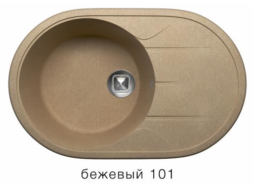 Мойка Tolero-R-116-101, цвет – Бежевый