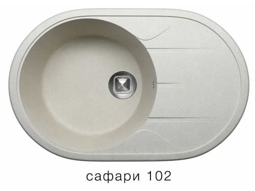 Мойка Tolero-R-116-102, цвет сафари