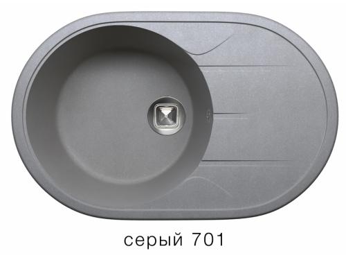 Мойка Tolero-R-116-701, цвет  серый