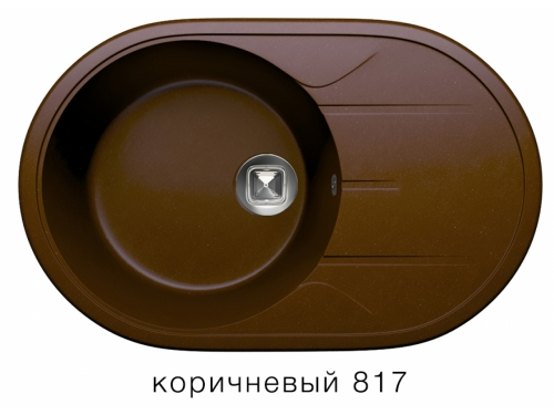 Мойка Tolero-R-116-817, цвет коричневый